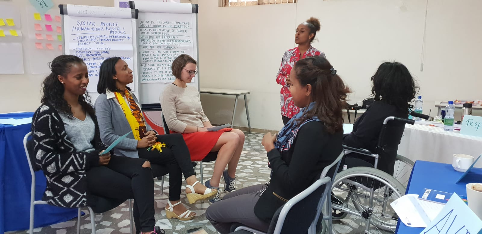 A moment of the Disability Equality Training organised by Bridging the Gap in Addis Ababa for DfID staff.
