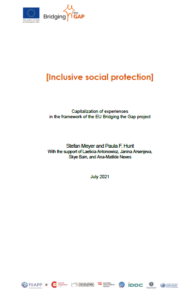 Snapshot cover page Capitalization Report Inclusive Social Protection in Africa
