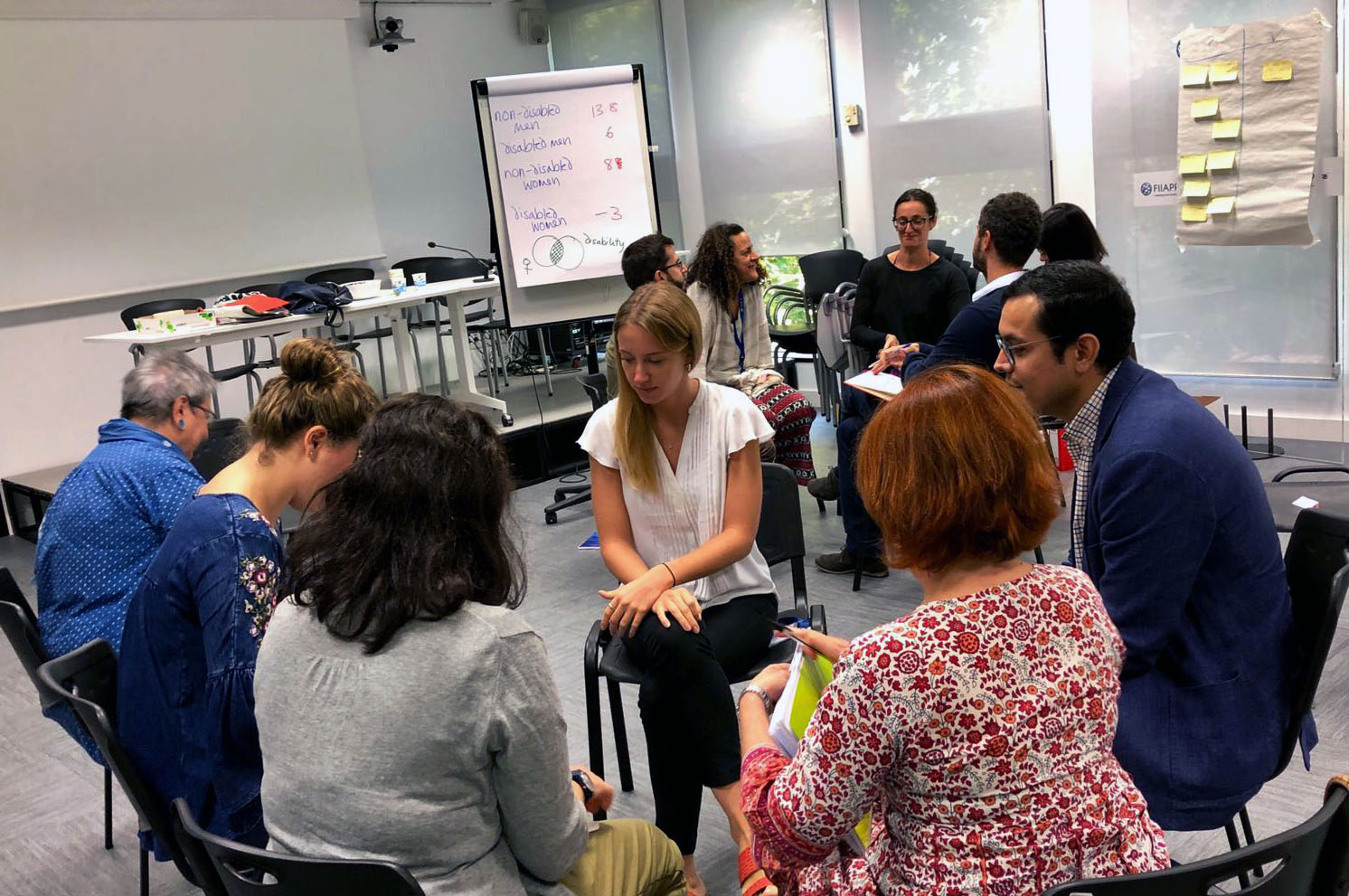 Participants of the secongd DET in Madrid working in groups