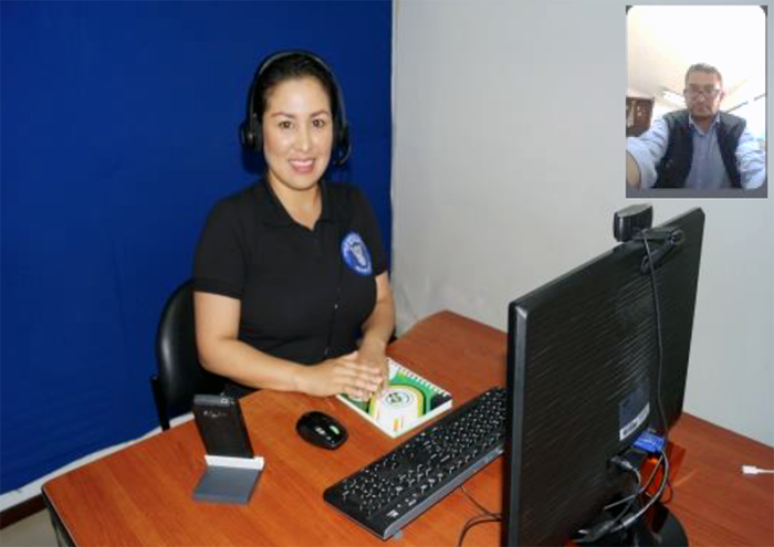 Woman attending a Sign Language video call