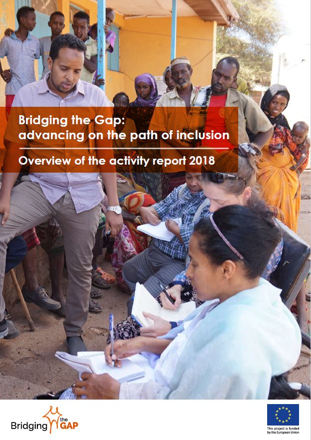 Cover: Advancing on the path of inclusion. Overview of the activity report 2018