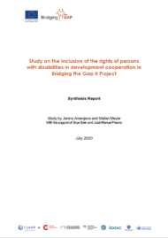 Cover Study on the inclusion of the rights of persons with disabilities in development cooperation in Bridging the Gap II Project