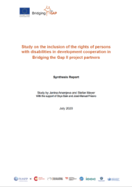 cover of the Inclusion of the rights of persons with disabilities in development cooperation in BtG-II