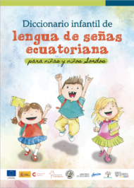 cover of the dictionary in Ecuadorian sign language for deaf children
