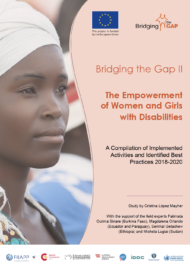 cover of the study The empowerment of Women and Girls with Disabilities