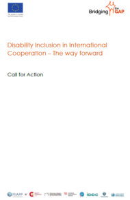 Cover page Call for action Inclusive DevelopmentEN