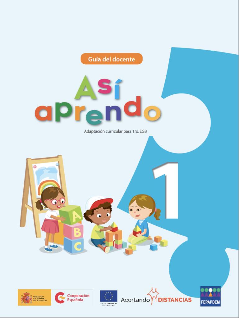 Cover teacher's guide: Así aprendo 1