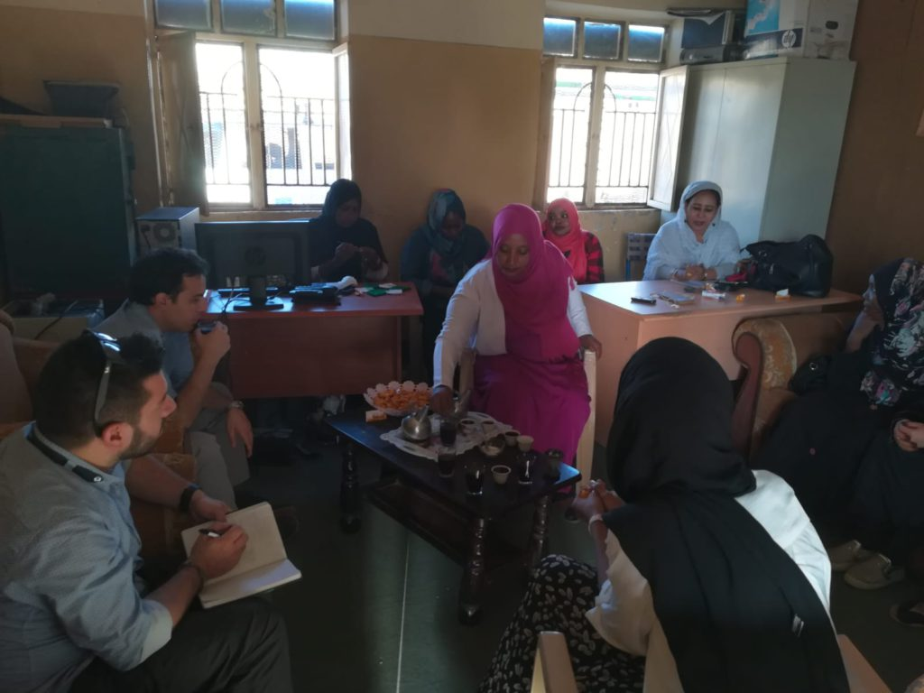 A moment of the follow-up meetings organised by Bridging the Gap with local representatives of women with disabilities from the Sudanese state of Gedaref.
