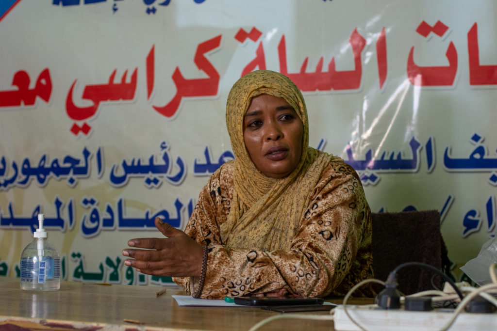 a sudanese woman speaking