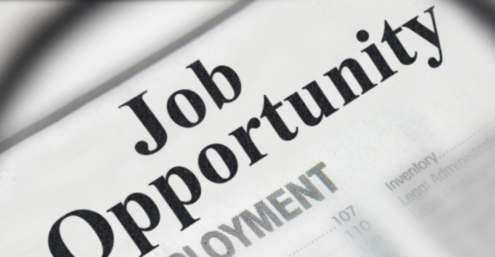 Newspaper with the sentence: Job opportunity