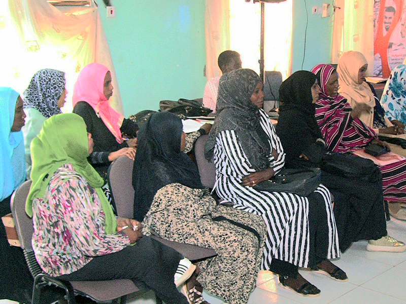 Women with disabilities from Sudan at a Bridging the Gap workshop
