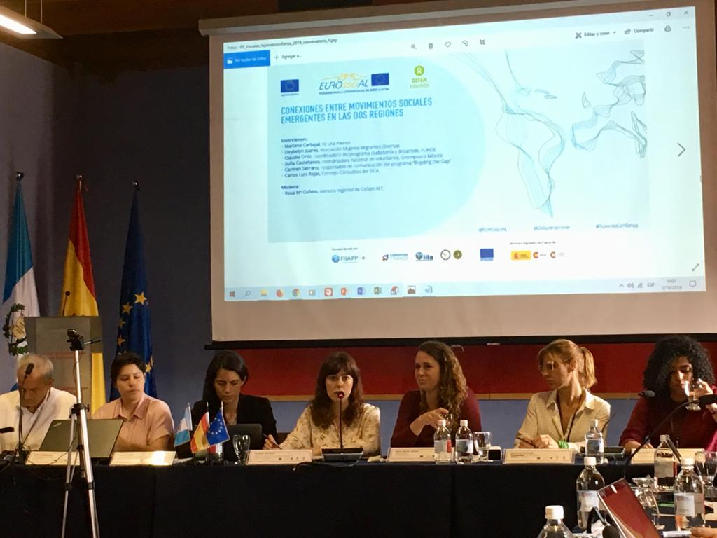 Panel debate on social movements. Carmen Serrano Speaking
