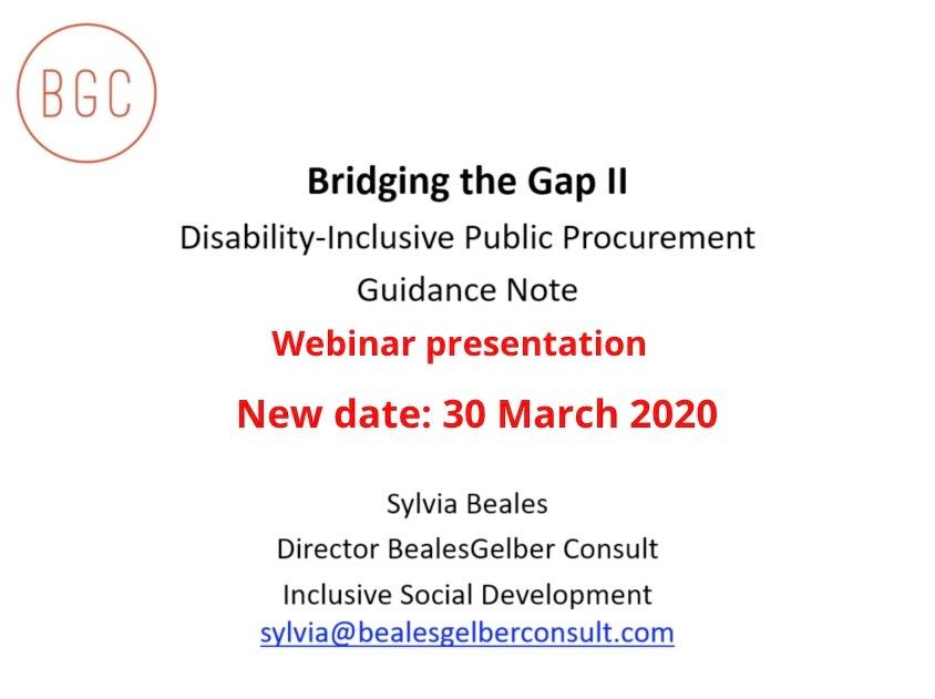 Screenshot with the title of the webinar