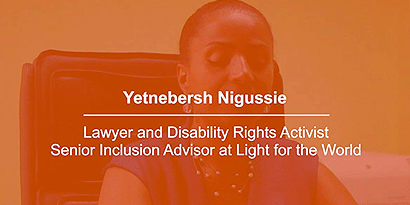Yetnebersh Nigussie's video message for the Bridging the Gap's launch event