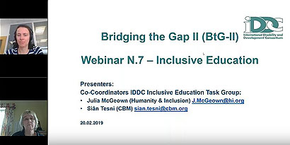 Slideshow: inclusive education webinar
