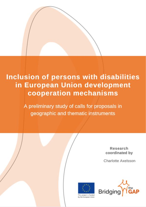 cover study Inclusion of persons with disabilities in European Union development cooperation mechanisms