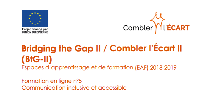 Formation en ligne nº5 Communication inclusive et accessible